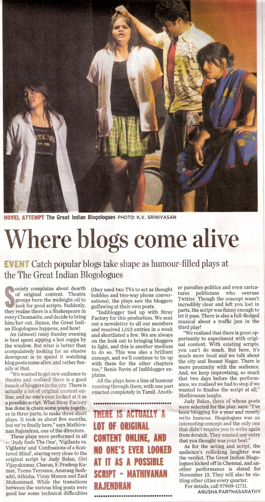 Great Indian Blogologues - Yours Digitally, Madras