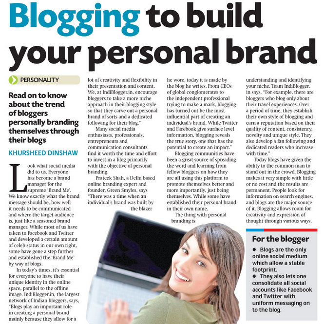Blogging to build your personal brand